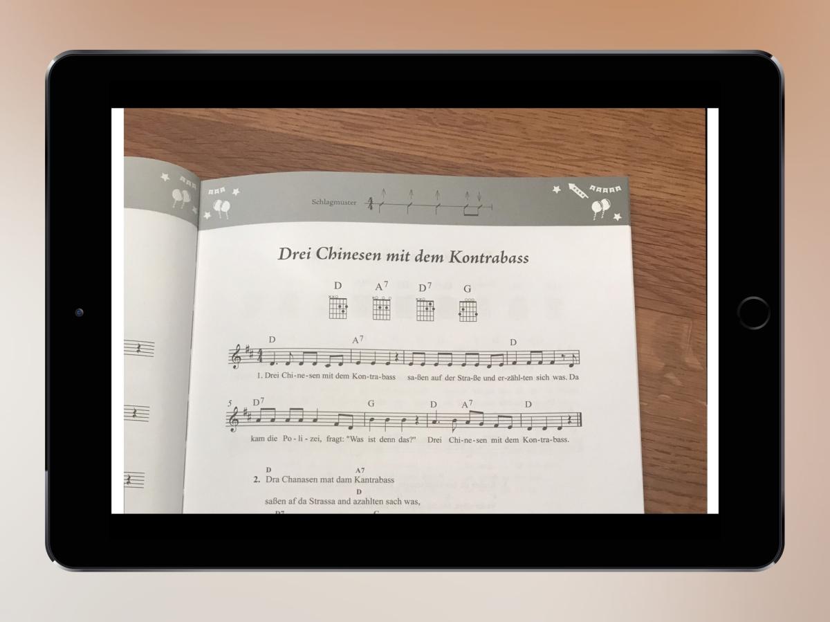Noten vom Liedblatt scannen und spielen