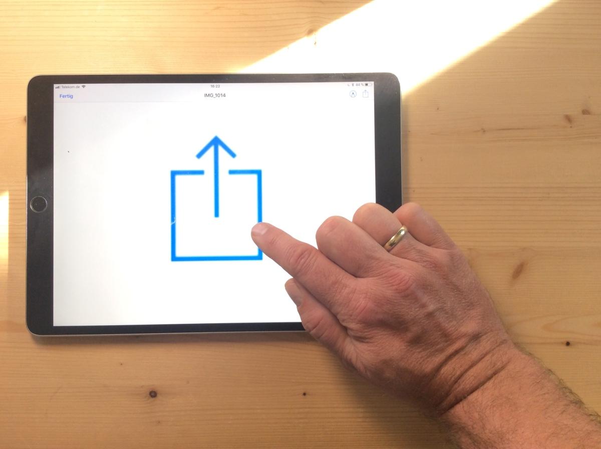 """Das """"Teilen"""" - Menü im iPad organisieren"""